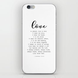 Love Never Fails #minimalism iPhone Skin