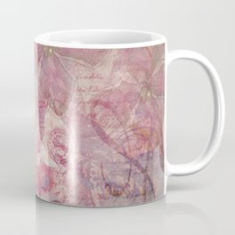 Lost Moments Woman Nostalgic Portrait In Shades Of Red Coffee Mug