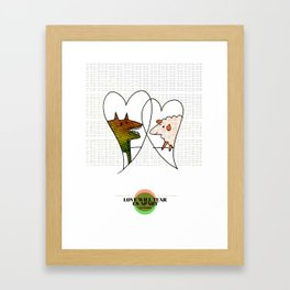LOVE IN OUR OPINION - LOVE WILL TEAR US APART Framed Art Print