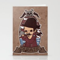 pirate Stationery Cards featuring Pirate by Jelot Wisang