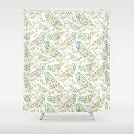 Floral birds multi Shower Curtain
