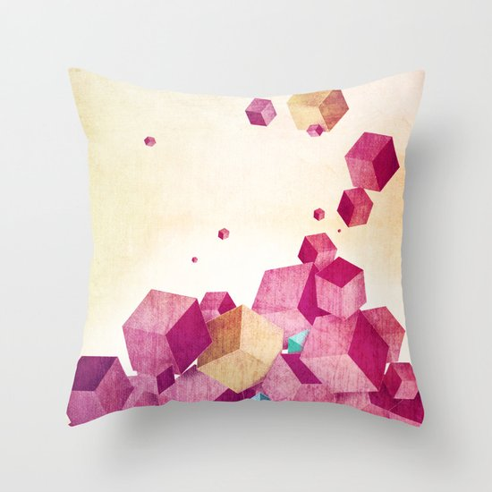 color cubes Throw Pillow