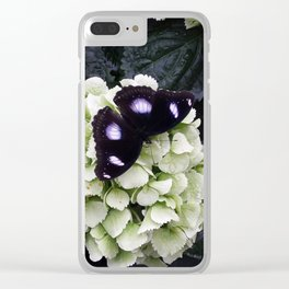 Black Butterfy Clear iPhone Case