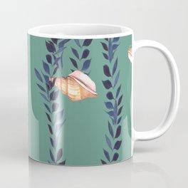 Watercolor shells with seaweed Coffee Mug