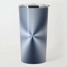 Radial Brushed Metal Texture Design Illustration Travel Mug