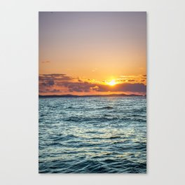 The most beautiful sunset on the Earth - which means ZADAR in Croatia Canvas Print