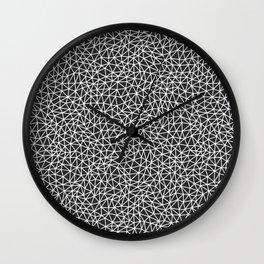 Abstract Minimal Multi Sized Triangle Shape Mosaic Pattern Black and White Wall Clock