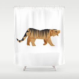 Origami Tiger Shower Curtain