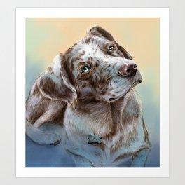 Catahoula Leopard Dog Art Print