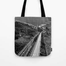 Point Reyes Lighthouse B&W Tote Bag