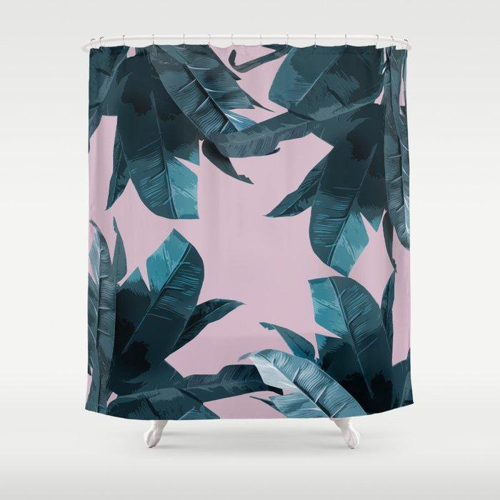 Tropical Palm Print #2 Shower Curtain