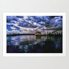 Boat Docks in Edenton Art Print