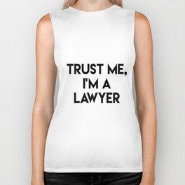 Trust me I'm a lawyer Biker Tank