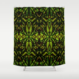 Fractal Art Stained Glass G313 Shower Curtain