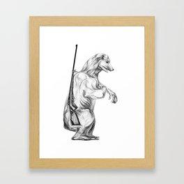 Hunting polar bear Framed Art Print