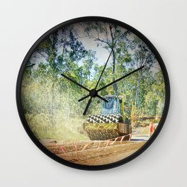 Heavy Industry Roadwork Roller Wall Clock