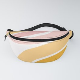 Abstract Shapes 37 in Mustard Yellow and Pale Pink Fanny Pack