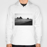 egypt Hoodies featuring Egypt, Pyramids by DLS Design