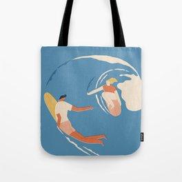 Wave lovers Tote Bag