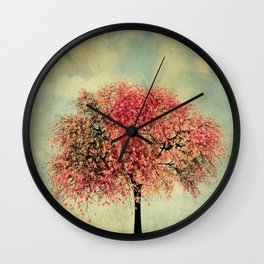 In our hearts there's always spring Wall Clock