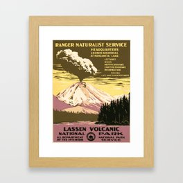 Vintage poster - Lassen Volcanic National Park Framed Art Print