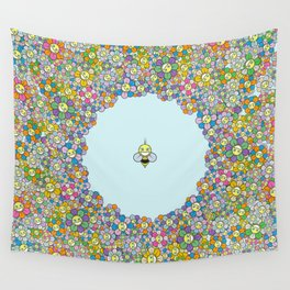 FLOWER POWER BEE Wall Tapestry