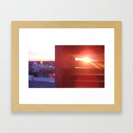 Stalking the sunset Framed Art Print