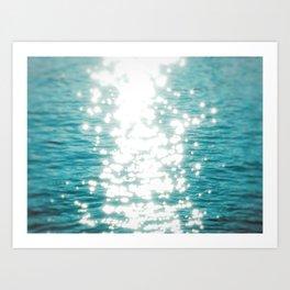 Sun glitter Art Print