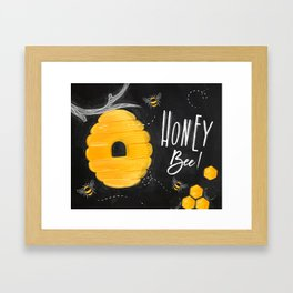 Honey bee chalk Framed Art Print