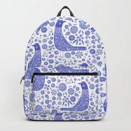 Nordic Bird Blue Backpack