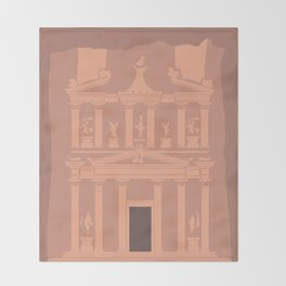 The Treasury at Petra Throw Blanket