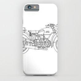 MOTO GUZZI AIRONE 250 1939 Original handmade drawing, gift for bikers iPhone Case