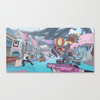 inside gaming Canvas Prints featuring Welcome To PC Gaming by the10s