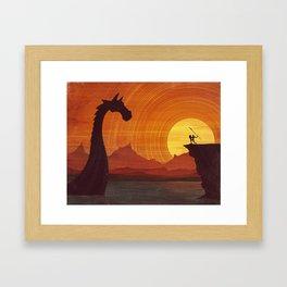 No Passage Framed Art Print