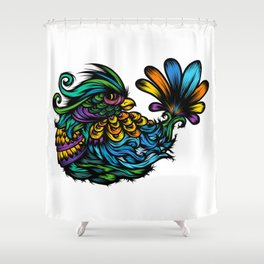 Fancy Bird too Shower Curtain