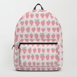 Cute Strawberries Pattern Backpack