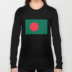 Flag of Bangladesh, High quality authentic HD version Long Sleeve T-shirt