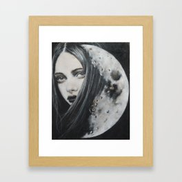 Weeping Heart and the Moon Framed Art Print