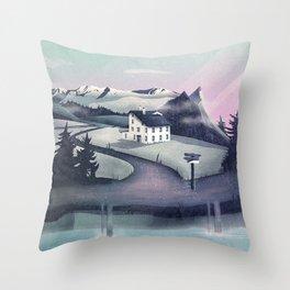 Alpine Island Throw Pillow