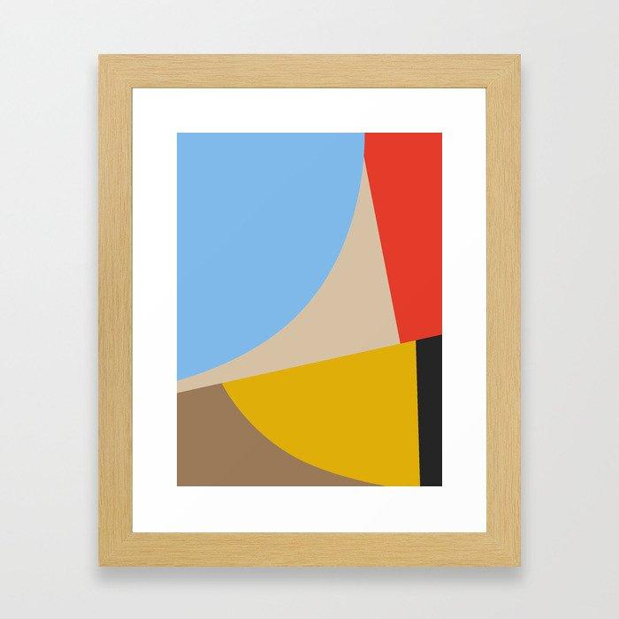 Mid Century Minimal 6 Framed Art Print