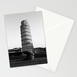 Leaning Tower of Pisa, Italy Black and White Photographic Art Print Stationery Cards