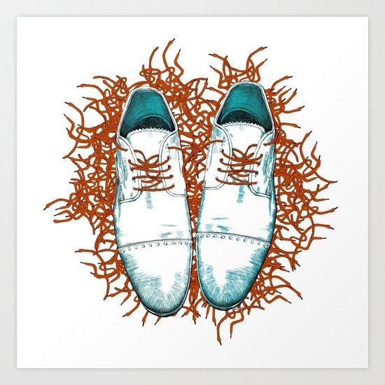 Shoes the last version  Art Print