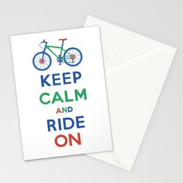 Keep Calm and Ride On Stationery Cards