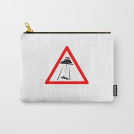 Alien Abduction Sign Carry-All Pouch
