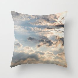 Among the Clouds - Sky Photography by Fluid Nature Throw Pillow