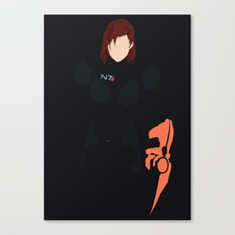 Mass Effect - Female Shepard Canvas Print