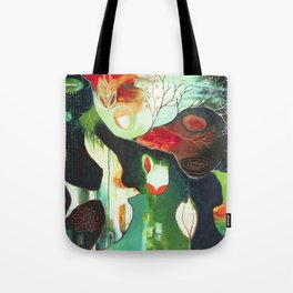 """Inner Whisper #2"" Original Painting by Flora Bowley Tote Bag"