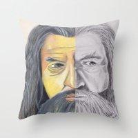 gandalf Throw Pillows featuring Gandalf   by RidnelSilva