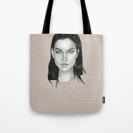 Graphite Barbara Palvin Tote Bag