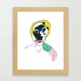 Portrait with epaulettes Framed Art Print